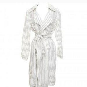 Jackets & Blazers - Rachel Zoe Linen Stripped duster jacket